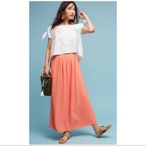 Paper Crown Pink Maxi Skirt